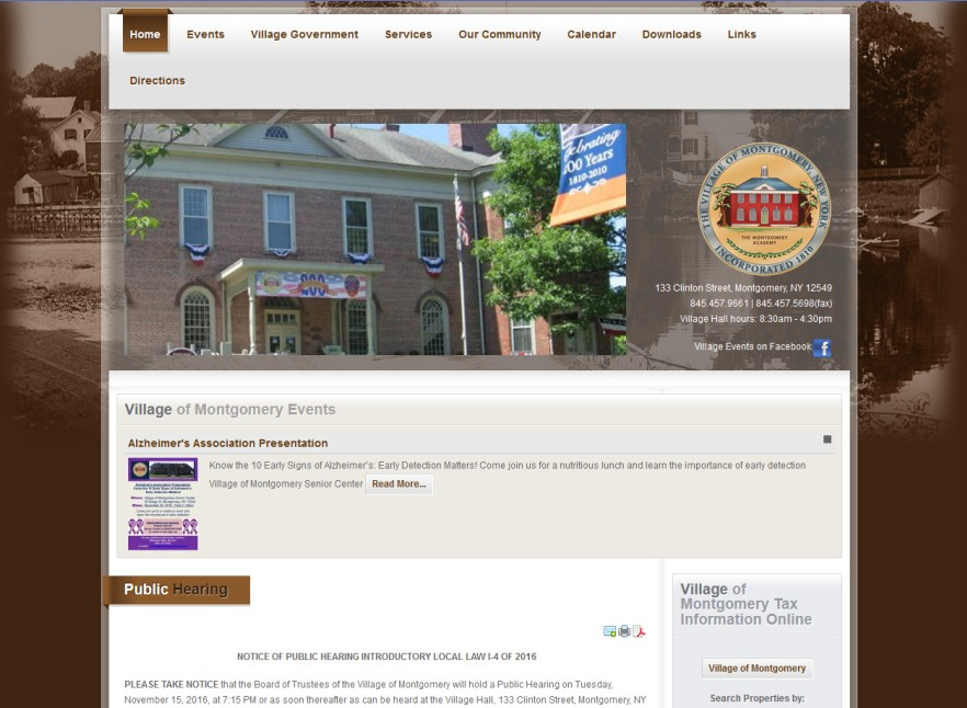 Village of Montgomery Website